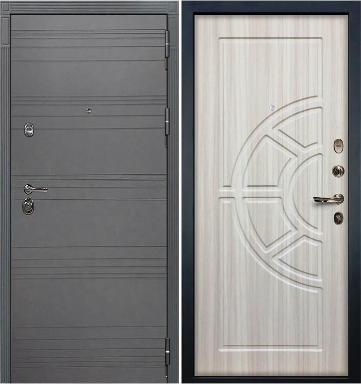 Входная дверь Лекс Сенатор 3К Графит софт / Сандал белый (панель №44)
