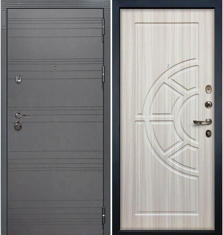 Входная дверь Сенатор 3К Графит софт / Сандал белый (панель №44)