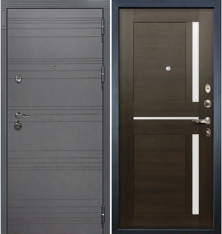 Входная дверь Сенатор 3К Графит софт / Баджио Венге (панель №50)