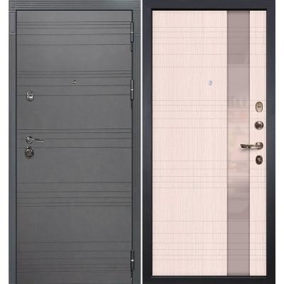 Входная дверь Лекс Сенатор 3К Графит софт / Новита Беленый дуб (панель №52)