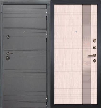 Входная дверь Сенатор 3К Графит софт / Новита Беленый дуб (панель №52)