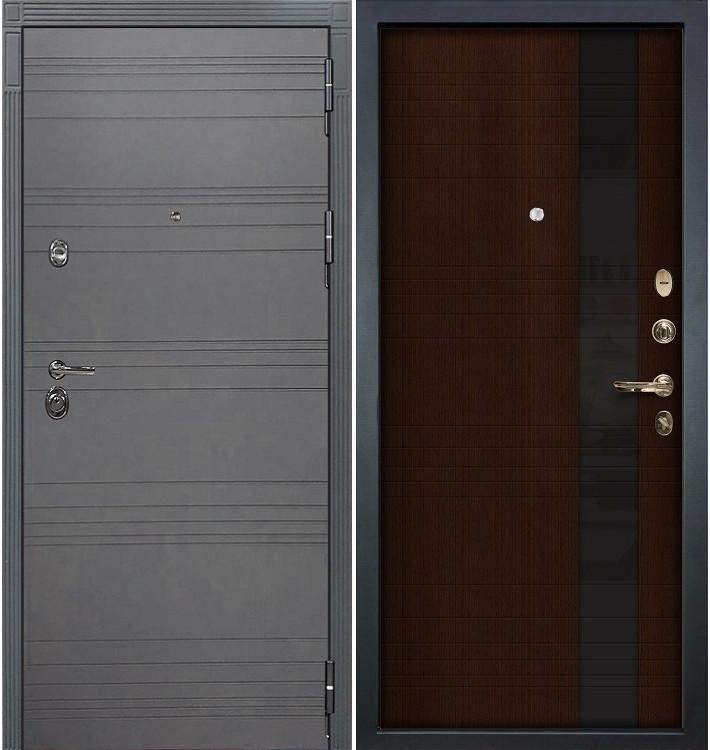 Входная дверь Сенатор 3К Графит софт / Новита Венге (панель №53)