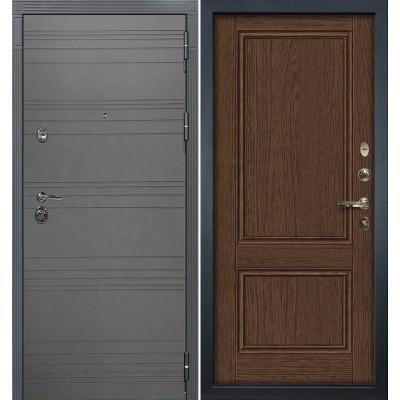 Входная дверь Лекс Сенатор 3К Графит софт / Энигма Орех (панель №57)