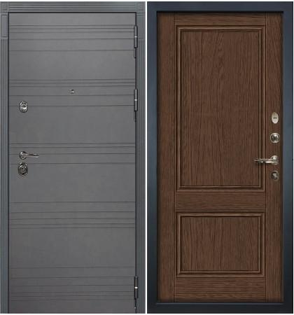 Входная дверь Сенатор 3К Графит софт / Энигма Орех (панель №57)