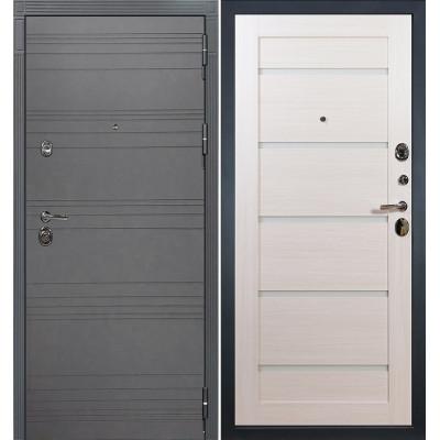 Входная дверь Лекс Сенатор 3К Графит софт / Клеопатра Беленый дуб (панель №58)