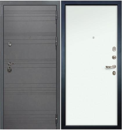 Входная дверь Сенатор 3К Графит софт / Белый винорит (панель №59)