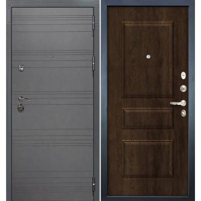 Входная дверь Лекс Сенатор 3К Графит софт / Алмон 28 (панель №60)