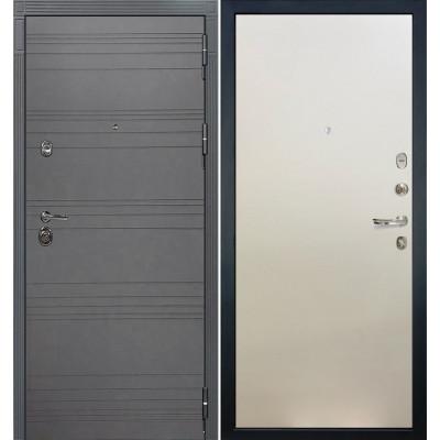Входная дверь Лекс Сенатор 3К Графит софт / Белый ясень (панель №62)