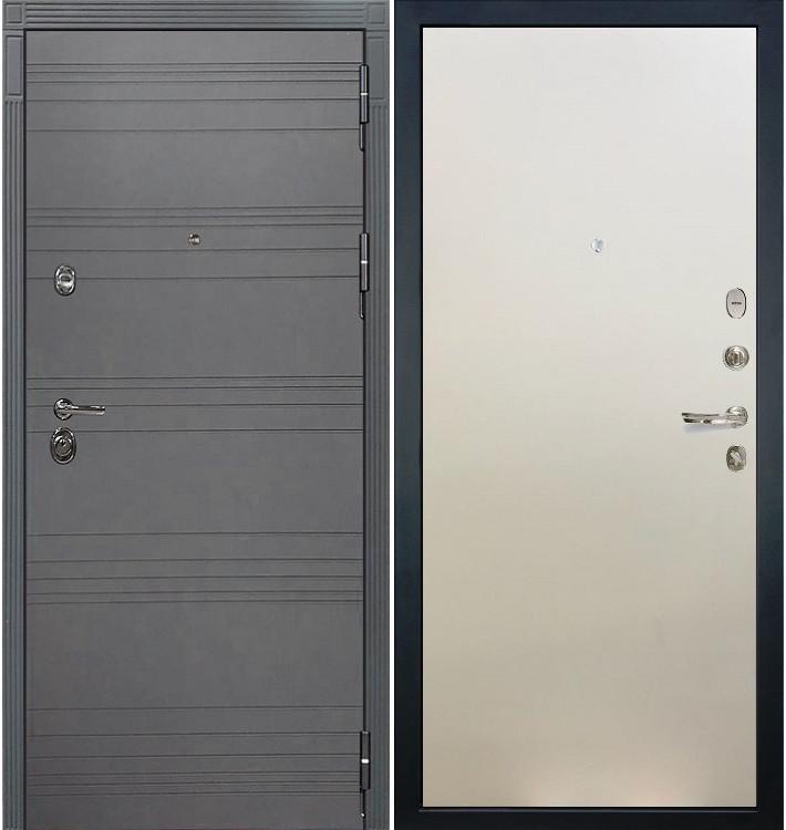 Входная дверь Сенатор 3К Графит софт / Белый ясень (панель №62)