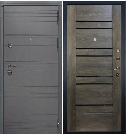 Входная дверь Сенатор 3К Графит софт / Терра Графит шале (панель №64)