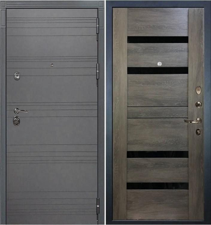 Входная дверь Лекс Сенатор 3К Графит софт / Неро Графит шале (панель №65)