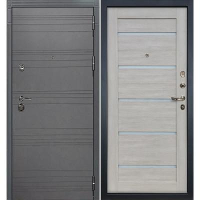 Входная дверь Лекс Сенатор 3К Графит софт / Клеопатра Ясень кремовый (панель №66)