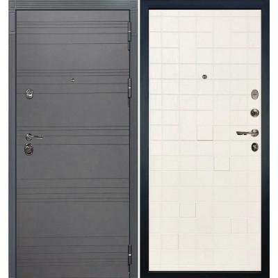 Входная дверь Лекс Сенатор 3К Графит софт / Белый ясень (панель №56)