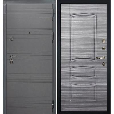 Входная дверь Лекс Сенатор 3К Графит софт / Сандал серый (панель №69)