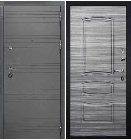 Входная дверь Сенатор 3К Графит софт / Сандал серый (панель №69)