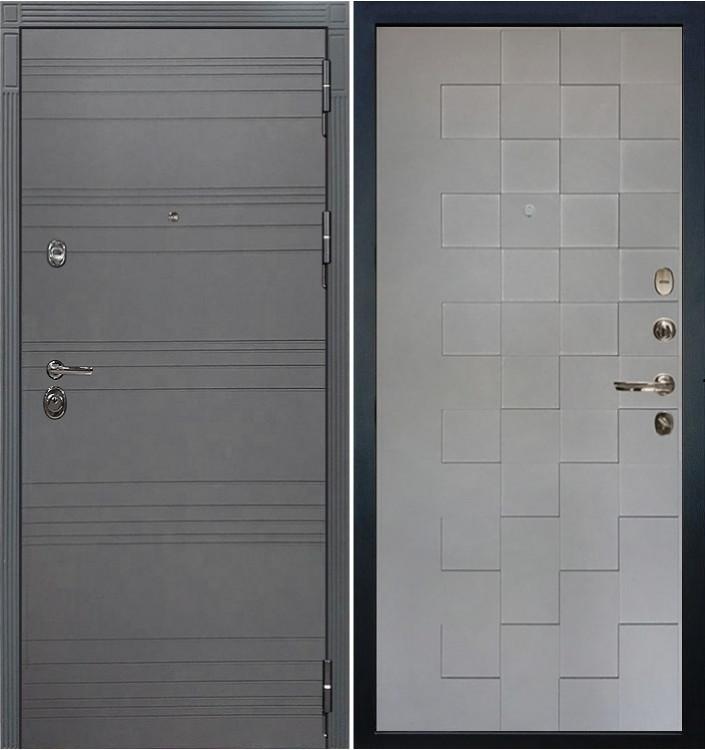 Входная дверь Лекс Сенатор 3К Графит софт / Графит софт Квадро (панель №72)