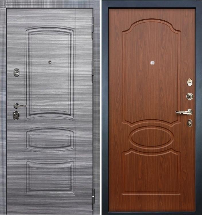 Входная дверь Лекс Сенатор 3К Сандал серый / Береза мореная (панель №12)