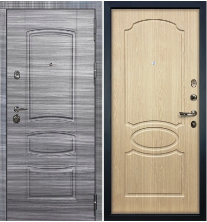Входная Дверь Сенатор 3К Сандал серый / Беленый дуб (панель №14)