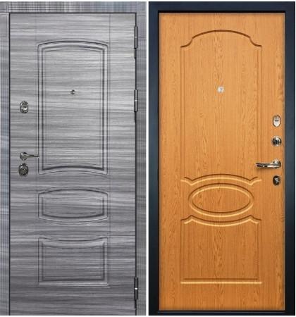Входная Дверь Сенатор 3К Сандал серый / Дуб натуральный (панель №15)