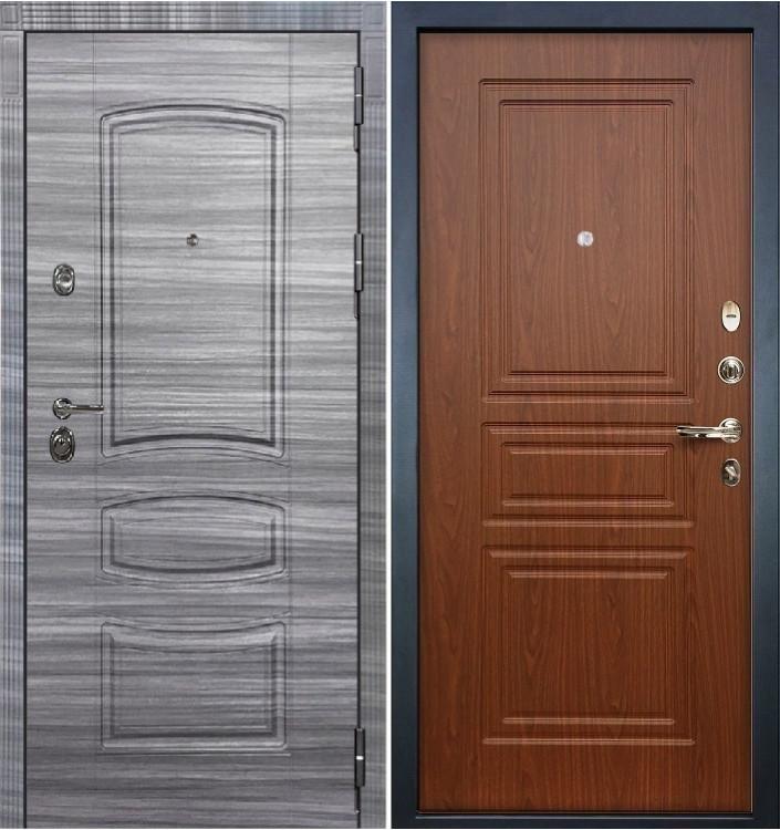 Входная дверь Лекс Сенатор 3К Сандал серый / Береза мореная (панель №19)