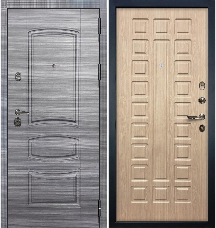 Входная Дверь Сенатор 3К Сандал серый / Беленый дуб (панель №20)