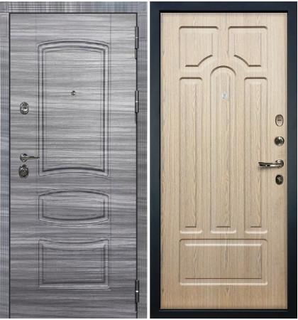 Входная Дверь Сенатор 3К Сандал серый / Беленый дуб (панель №25)