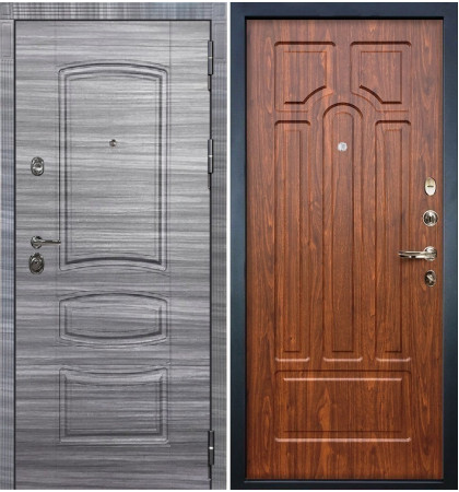 Входная Дверь Сенатор 3К Сандал серый / Береза мореная (панель №26)