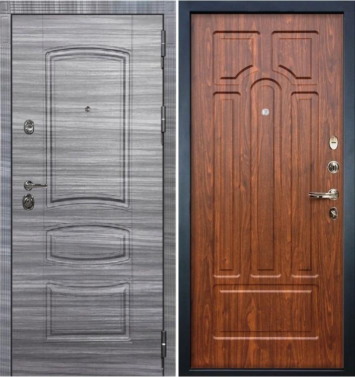 Входная дверь Лекс Сенатор 3К Сандал серый / Береза мореная (панель №26)