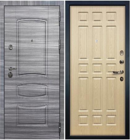 Входная Дверь Сенатор 3К Сандал серый / Беленый дуб (панель №28)