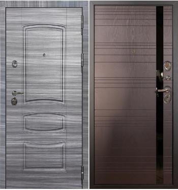 Входная дверь Лекс Сенатор 3К Сандал серый / Ясень шоколад (панель №31)