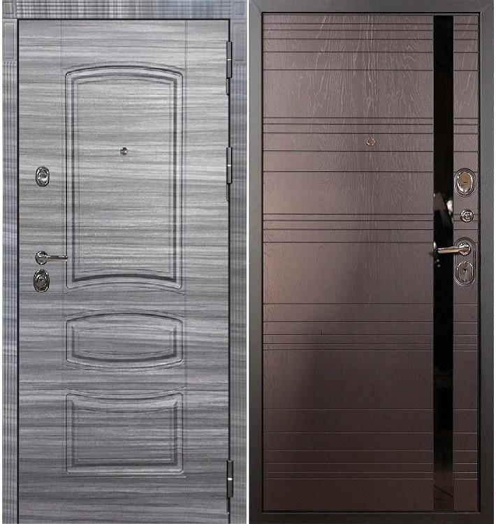 Входная Дверь Сенатор 3К Сандал серый / Ясень шоколад (панель №31)
