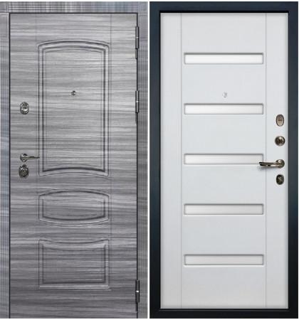 Входная Дверь Сенатор 3К Сандал серый / Ясень белый (панель №34)