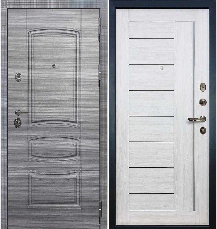 Входная Дверь Сенатор 3К Сандал серый / Верджиния Беленый дуб (панель №38)