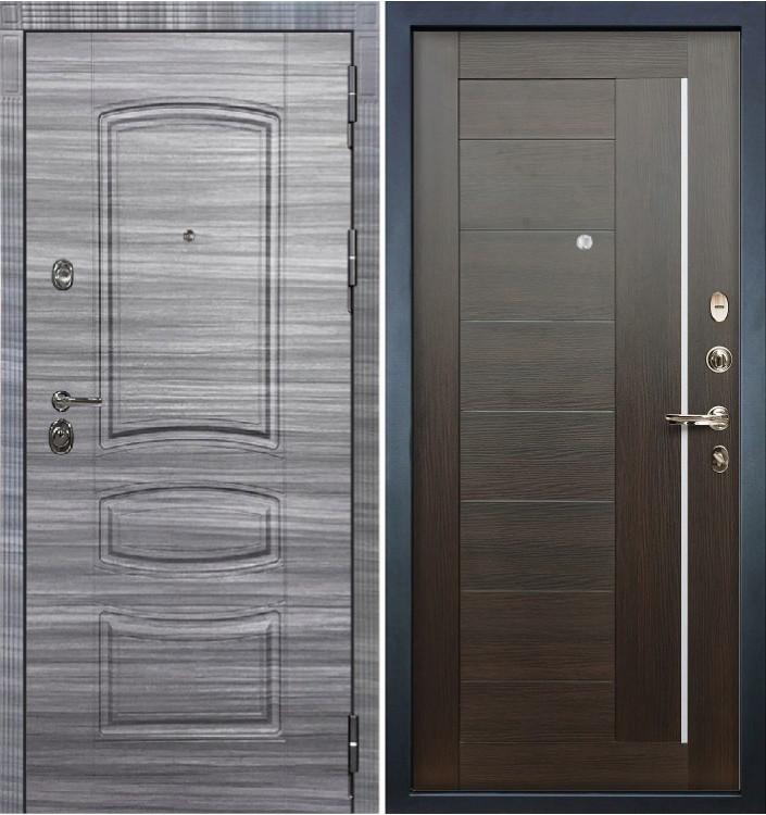 Входная дверь Лекс Сенатор 3К Сандал серый / Верджиния Венге (панель №39)