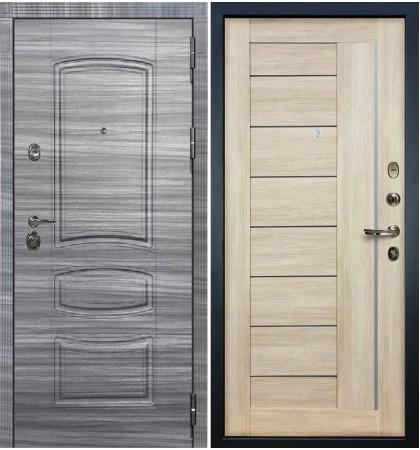 Входная Дверь Сенатор 3К Сандал серый / Верджиния Ясень кремовый (панель №40)