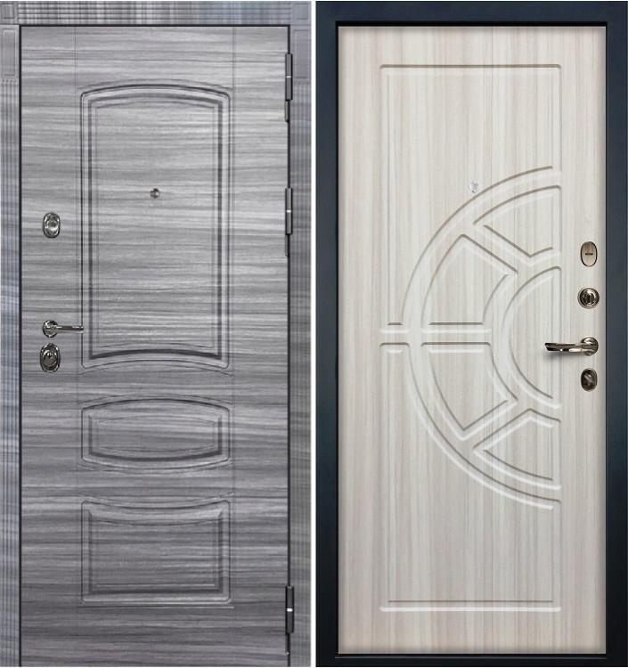 Входная дверь Лекс Сенатор 3К Сандал серый / Сандал белый (панель №44)
