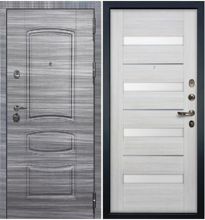 Входная Дверь Сенатор 3К Сандал серый / Сицилио Беленый дуб (панель №46)