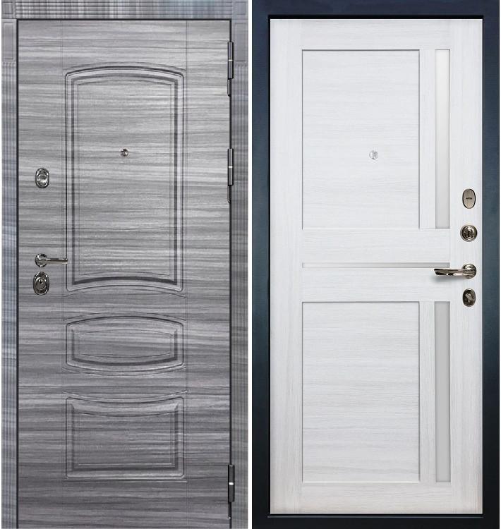 Входная Дверь Сенатор 3К Сандал серый / Баджио Беленый дуб (панель №47)