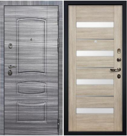 Входная Дверь Сенатор 3К Сандал серый / Сицилио Ясень кремовый (панель №48)