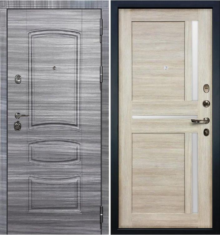 Входная дверь Лекс Сенатор 3К Сандал серый / Баджио Ясень кремовый (панель №49)
