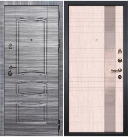 Входная Дверь Сенатор 3К Сандал серый / Новита Беленый дуб (панель №52)