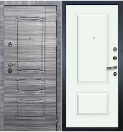 Входная Дверь Сенатор 3К Сандал серый / Вероника Белая эмаль (панель №55)