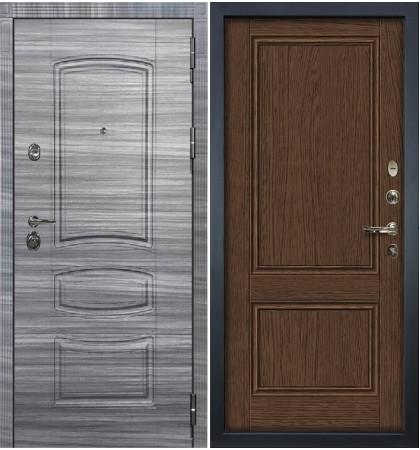 Входная Дверь Сенатор 3К Сандал серый / Энигма Орех (панель №57)