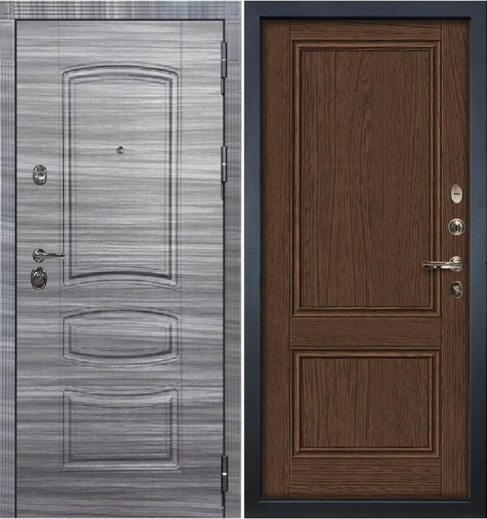 Входная дверь Лекс Сенатор 3К Сандал серый / Энигма Орех (панель №57)