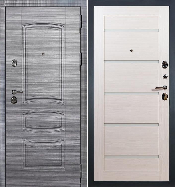 Входная дверь Лекс Сенатор 3К Сандал серый / Клеопатра Беленый дуб (панель №58)