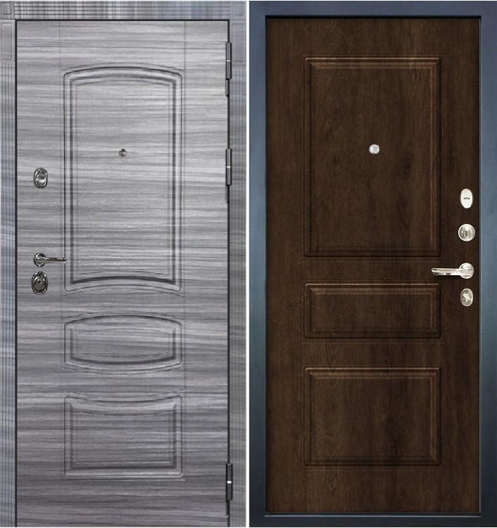 Входная дверь Лекс Сенатор 3К Сандал серый / Алмон 28 (панель №60)