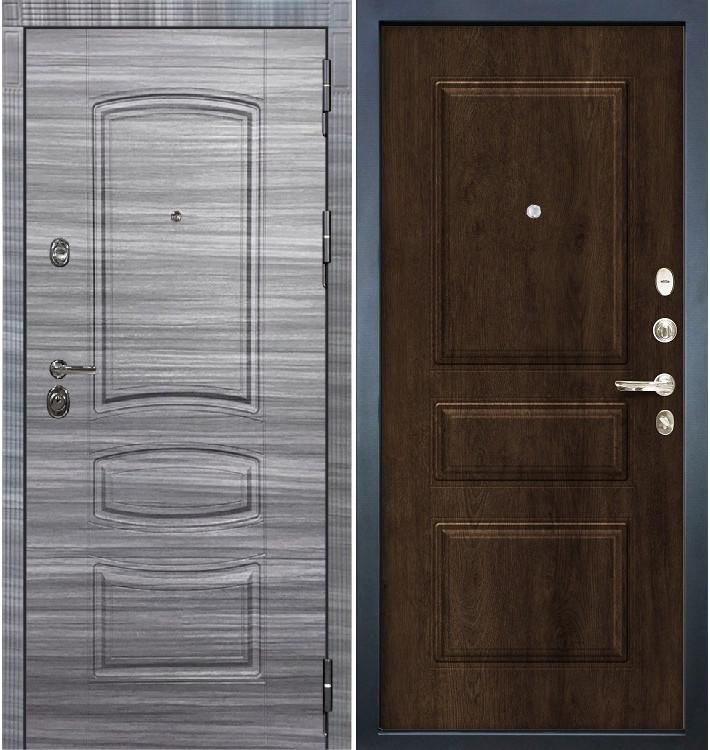 Входная Дверь Сенатор 3К Сандал серый / Алмон 28 (панель №60)