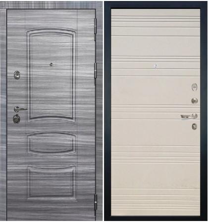 Входная Дверь Сенатор 3К Сандал серый / Дуб фактурный крем (панель №63)