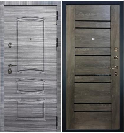 Входная Дверь Сенатор 3К Сандал серый / Терра Графит шале (панель №64)
