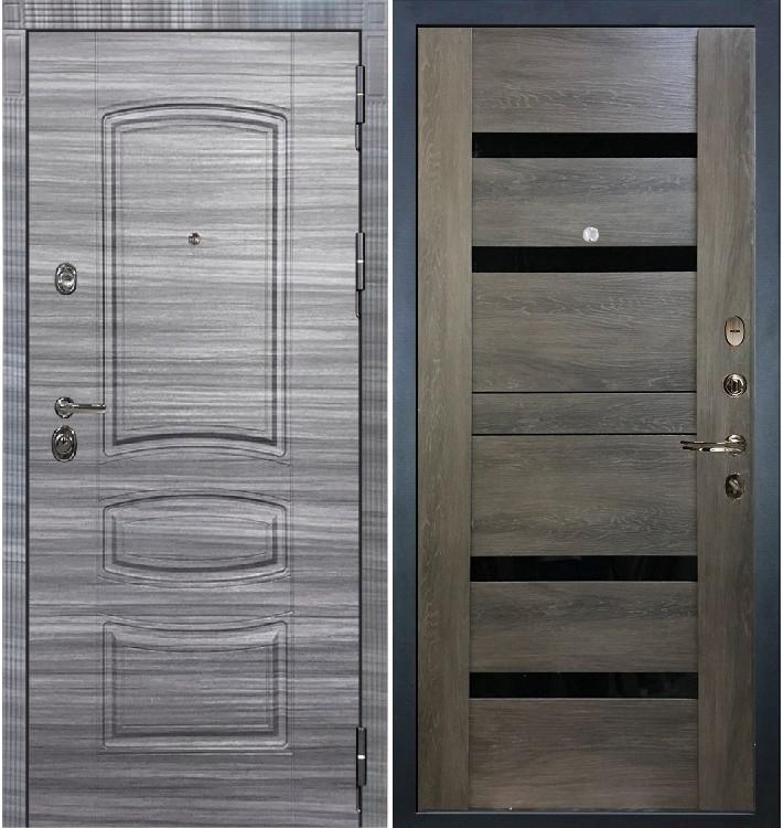 Входная Дверь Сенатор 3К Сандал серый / Неро Графит шале (панель №65)